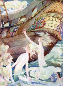 The Little Mermaid and Her Sisters. By Anne Anderson (1874-1930) [Public domain], via Wikimedia Commons