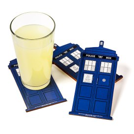 TARDIS Coasters on ThinkGeek