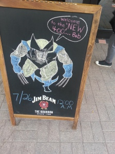 Wolverine Chalk Art