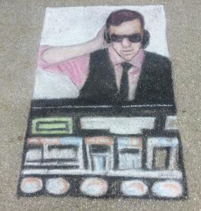 dj chalk art