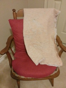 blankey on chair