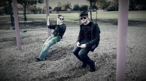 Chris and I swinging