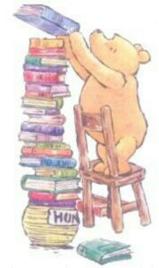 pooh and his books