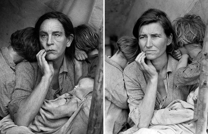 Sandro Miller, Dorothea Lange / Migrant Mother, Nipomo, California (1936), 2014