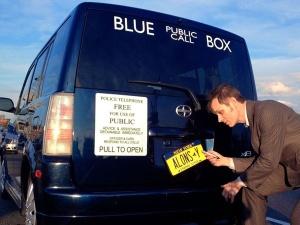 blue box van