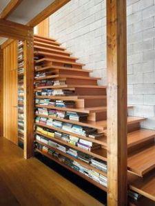 stairway book shelves